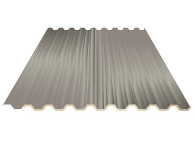 Insulated metal panel for roof UNI 28