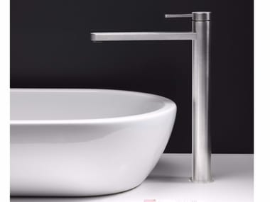 Countertop single handle stainless steel washbasin mixer UNI/X | Countertop washbasin mixer