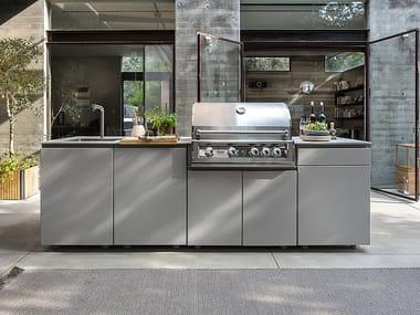 Cucina da esterno in alluminio verniciato a polvere unica 270