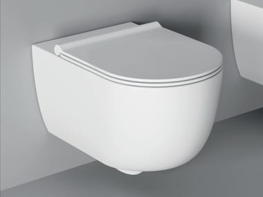 Wall-hung ceramic toilet UNICA | Wall-hung toilet