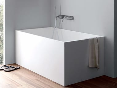 Rectangular Corian® bathtub UNICO MINI