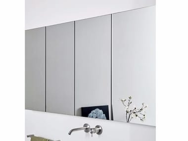 Wall-mounted bathroom mirror with cabinet UNICO | Mirror with cabinet