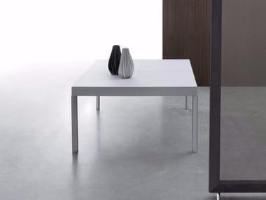 Extending square wooden table UNISONO