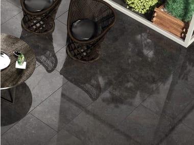 Pavimento/rivestimento in gres porcellanato effetto pietra UNIVERSE BLACK
