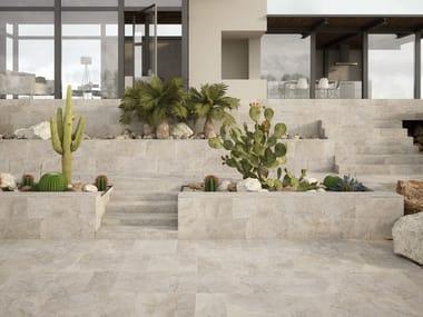 Pavimento/rivestimento in gres porcellanato effetto pietra UNIVERSE GREY