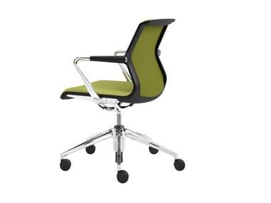 Sedia ufficio girevole a 5 razze UNIX CHAIR | Sedia ufficio a 5 razze