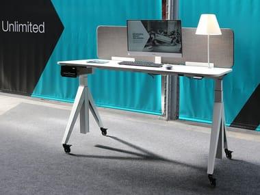 Height-adjustable workstation desk UNLIMITED