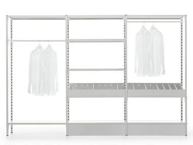 Custom metal walk-in wardrobe UNO | Walk-in wardrobe