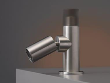 Rubinetto per lavabo da piano in acciaio inox con bocca orientabile UP & DOWN 01