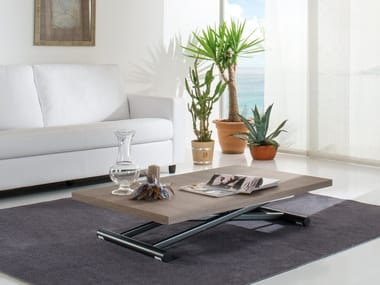 Height Adjustable Rectangular Coffee Table UP U0026 DOWN