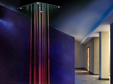 Soffione doccia a LED a soffitto in acciaio inox URANO | Soffione doccia a LED