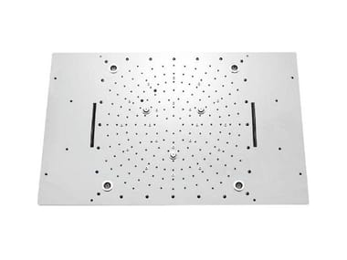 LED stainless steel overhead shower for chromotherapy URANO | Overhead shower for chromotherapy