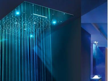 Soffione doccia a LED in acciaio inox con cromoterapia URANO | Soffione doccia con cromoterapia