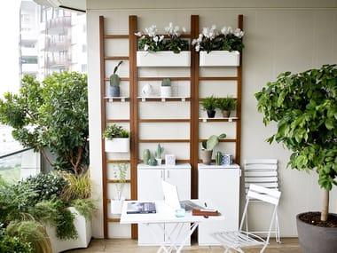 Iroko vertical gardening trellis URBAN BALCONY