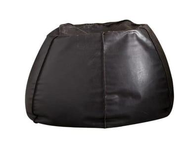Round leather bean bag pouf URBAN