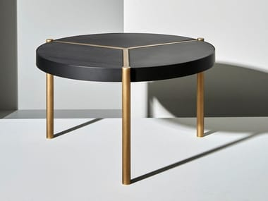 Low round brass coffee table URBAN | Coffee table