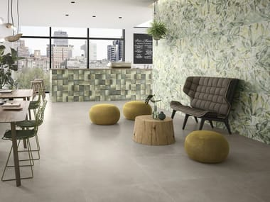 Porcelain stoneware wall/floor tiles with concrete effect URBAN JUNGLE