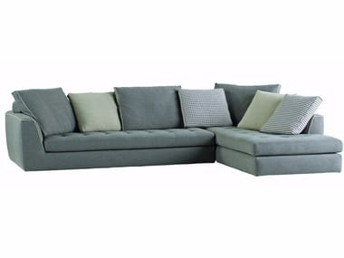 Corner fabric sofa with removable cover URBAN