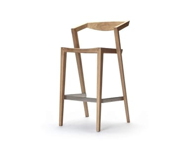 High garden stool with back URBAN | High stool