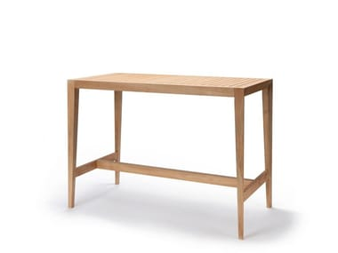 Rectangular teak high table URBAN | High table