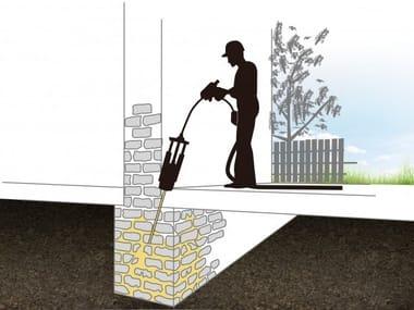 Masonry consolidation URETEK WALLS RESTORING