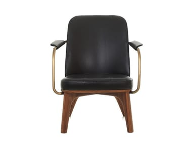 Upholstered armchair with armrests UTILITY LOUNGE CHAIR