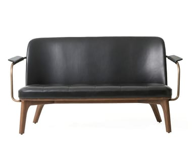 2 seater leather sofa UTILITY LOUNGE CHAIR TWO SEATER