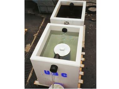 Oil separator, de-oiler and grease separator V.F.I. | Coalescing filter container