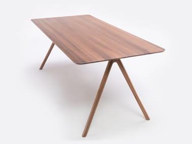 Rectangular walnut table AIR TABLE WOOD