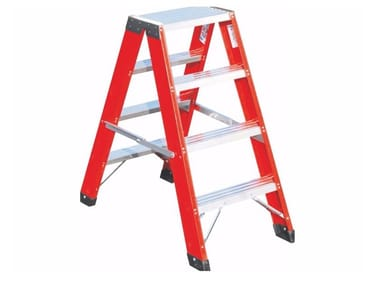 Foldable double sided step ladder V033
