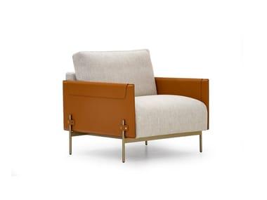 Fabric armchair with armrests V215 | Armchair