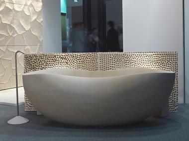 Freestanding lecce stone bathtub V33 | Lecce stone bathtub
