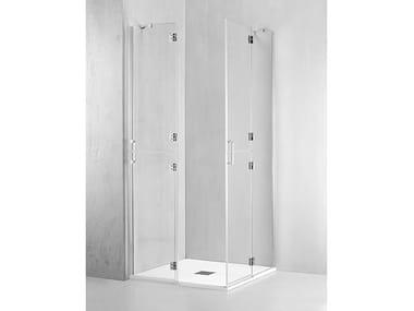 Box doccia angolare con porta a battente VO-PBA + VO-PBA