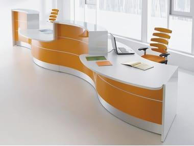 Modular Office reception desk VALDE | Modular Office reception desk