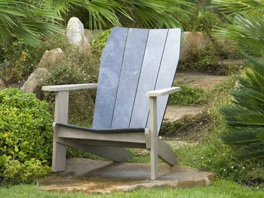 HPL deck chair with armrests VALTECK | Deck chair