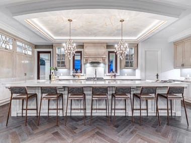 Decapé custom wooden kitchen with island VANCOUVER