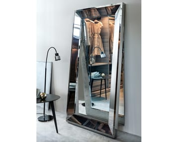 Framed freestanding rectangular mirror VANITY