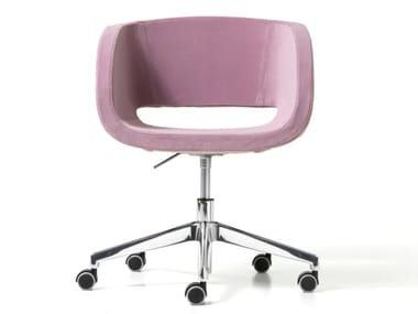 Fabric office chair with 5-Spoke base with castors VANITY | Office chair