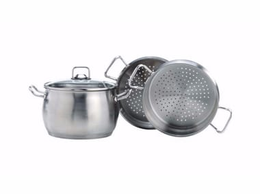 Stainless steel double-boiler with lid VAPORIERA