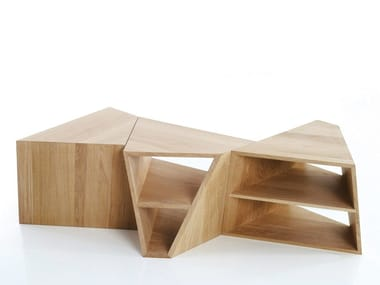 Delightful Low Modular Coffee Table With Integrated Magazine Rack VARAN | Coffee Table