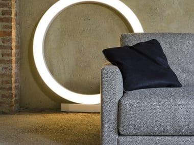 Solid-color square leather sofa cushion VARENNE