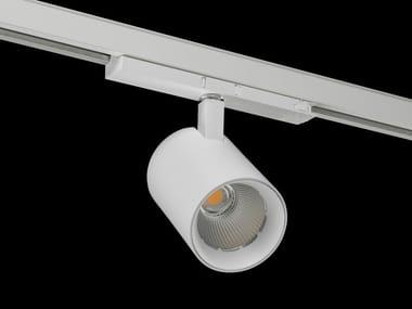 Illuminazione a binario alogena in alluminio verniciato a polvere VARO