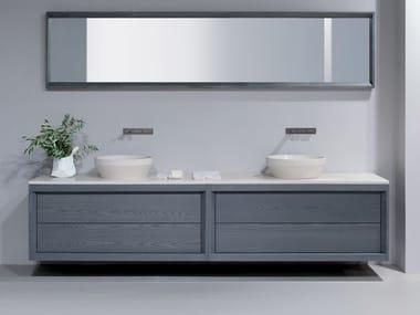 Wall-mounted ash vanity unit DOGI | Wall-mounted vanity unit
