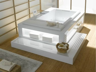 Whirlpool bathtub with chromotherapy NEOREST | Rectangular bathtub