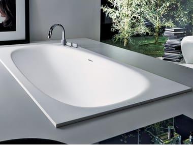 Rectangular built-in Cristalplant® bathtub VASCAMISURA | Built-in bathtub