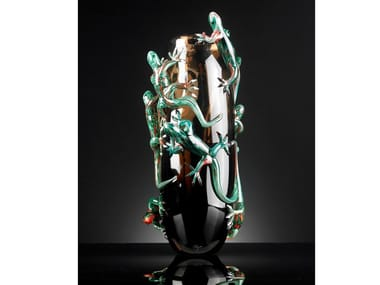 Glass vase VASE 8 GECKOS BIG