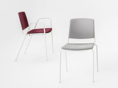 Polypropylene chair with armrests VEA | Chair with armrests