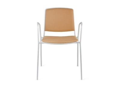 Upholstered chair with armrests VEA | Fabric training chair