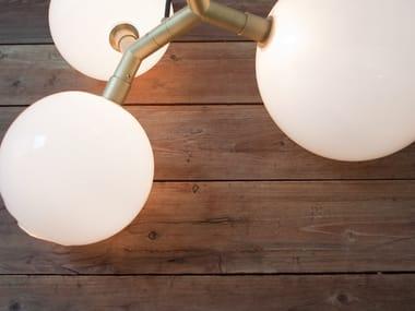 Lampada da tavolo / lampada da terra in vetro soffiato VEER LIGHT