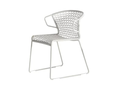 Sled base stackable chair VELA | Sled base chair